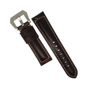M2 Oil Waxed Leather Watch Strap in Brown (24mm) - Nomad watch Works