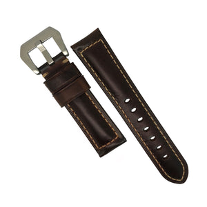 M2 Oil Waxed Leather Watch Strap in Maroon (22mm) - Nomad watch Works