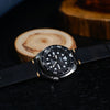 Premium Vintage Oil Waxed Leather Watch Strap in Black (20mm) - Nomad watch Works