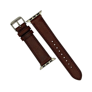 Emery Signature Pueblo Leather Strap in Bordeaux (42 & 44mm) - Nomad watch Works