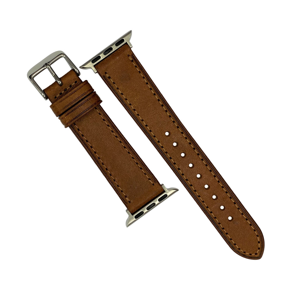 Emery Signature Pueblo Leather Strap in Cognac (38 & 40mm) - Nomad watch Works