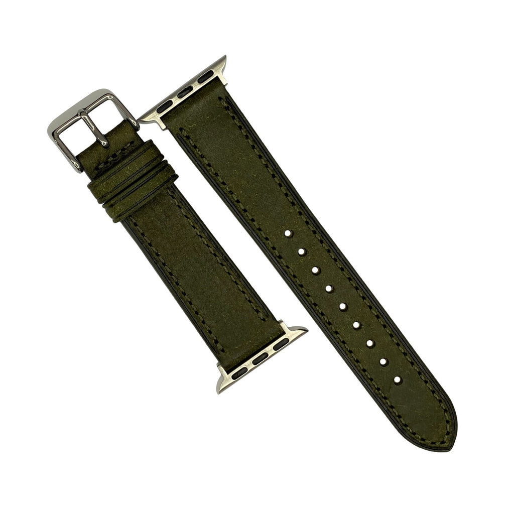 Emery Signature Pueblo Leather Strap in Olive (42 & 44mm) - Nomad watch Works