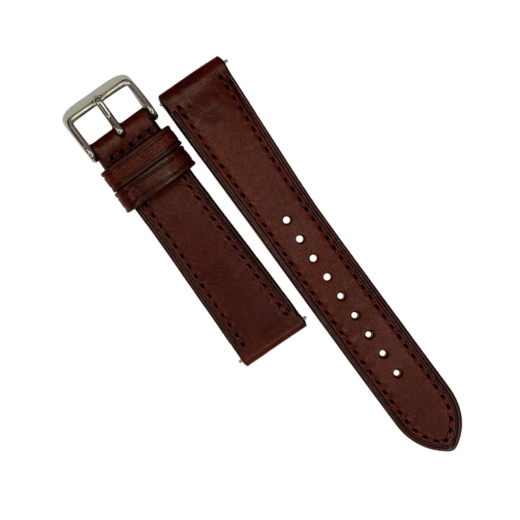 Emery Signature Pueblo Leather Strap in Bordeaux (22mm) - Nomad watch Works