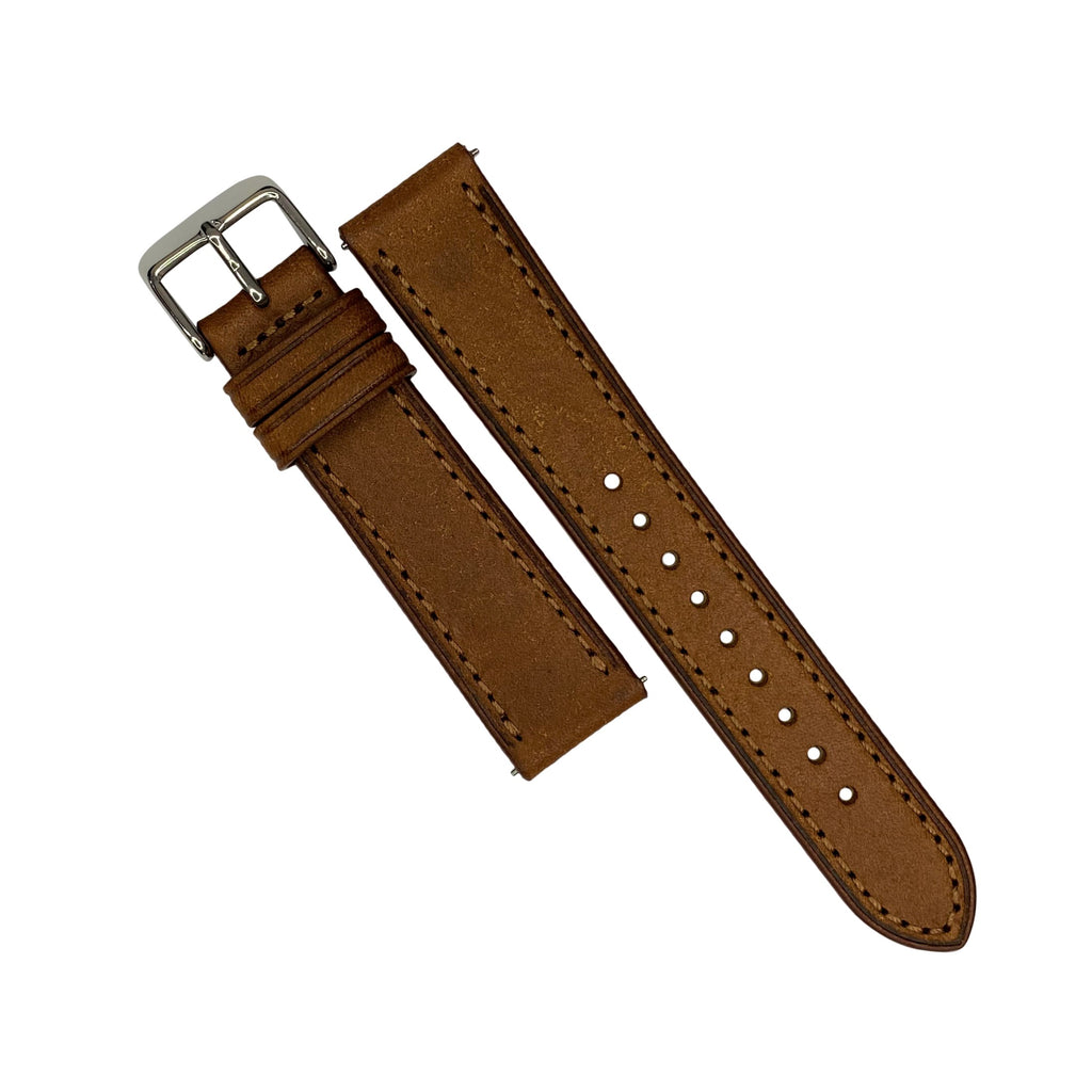 Emery Signature Pueblo Leather Strap in Cognac (22mm) - Nomad watch Works
