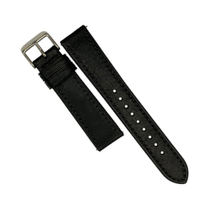 Emery Signature Pueblo Leather Strap in Black (18mm) - Nomad watch Works