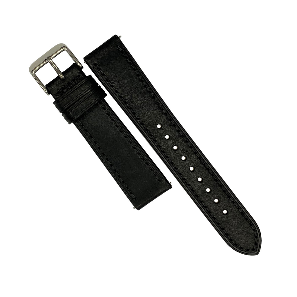Emery Signature Pueblo Leather Strap in Black (22mm) - Nomad watch Works