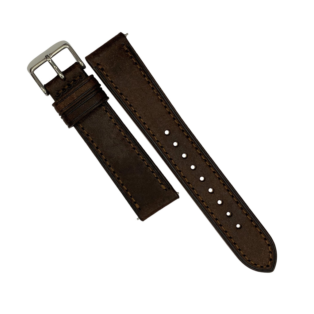 Emery Signature Pueblo Leather Strap in Brown (18mm) - Nomad watch Works