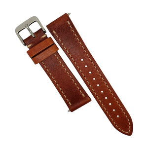 Quick Release Modern Leather Watch Strap in Amber (22mm) - Nomad watch Works