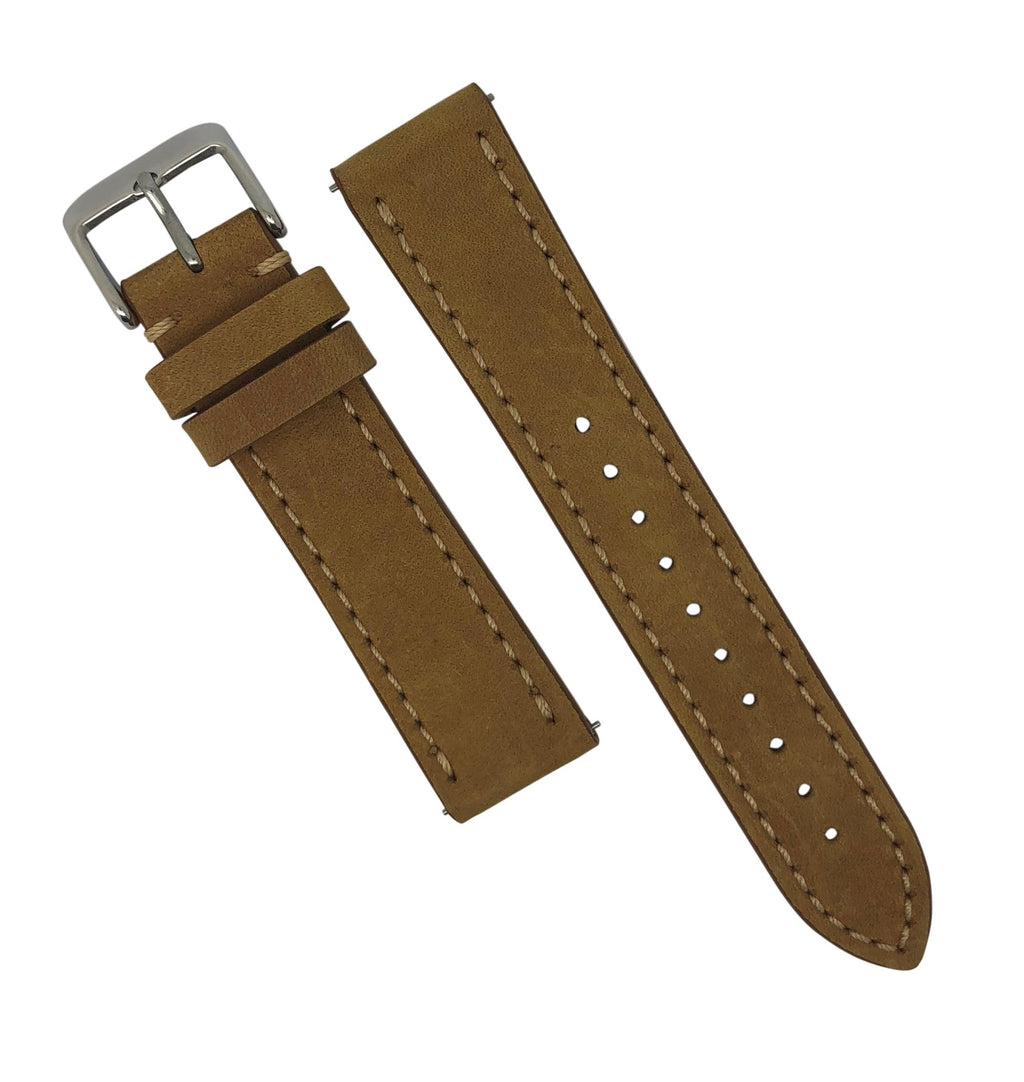 Quick Release Modern Leather Watch Strap in Tan (22mm) - Nomad watch Works