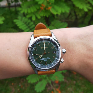 Emery Dress Epsom Leather Strap in Tan (20mm) - Nomad watch Works