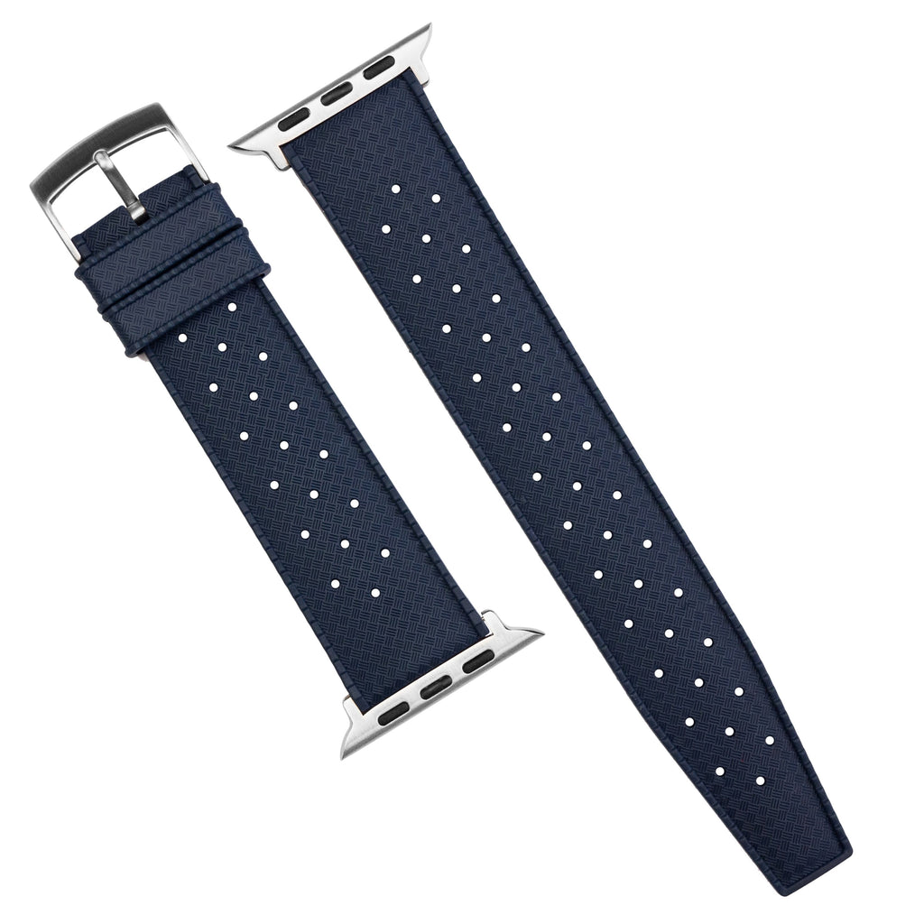 Apple Watch Tropic FKM Rubber Strap in Navy (38 & 40mm) - Nomad Watch Works SG