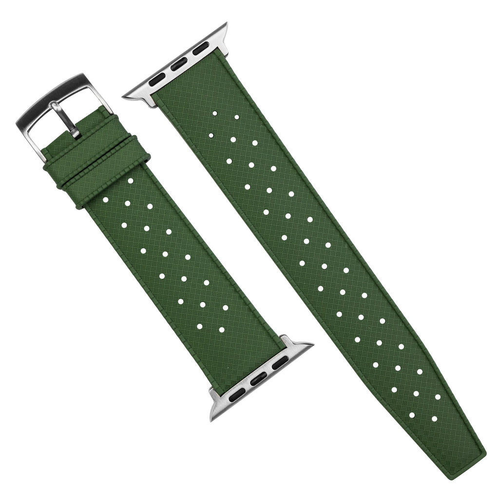 Apple Watch Tropic FKM Rubber Strap in Green (42 & 44mm) - Nomad Watch Works SG