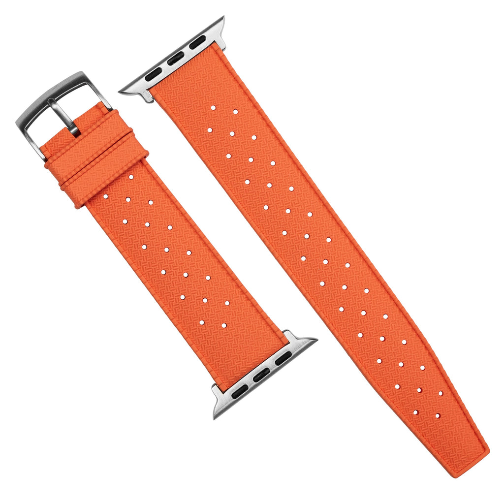 Apple Watch Tropic FKM Rubber Strap in Orange (42 & 44mm) - Nomad Watch Works SG