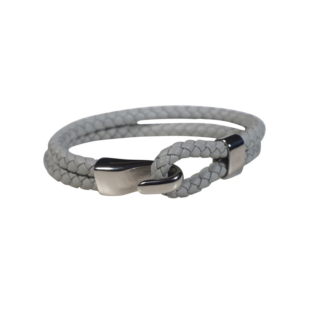 Oxford Leather Bracelet in White (Size M)