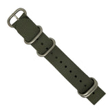 Heavy Duty Zulu Strap in Grey with Silver Buckle (20mm) - Nomad watch Works