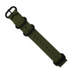 Heavy Duty Zulu Strap in Olive with PVD Black Buckle (20mm) - Nomad watch Works