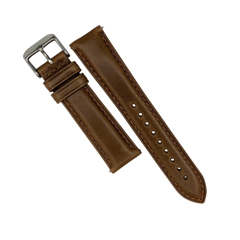 N2W Classic Horween Leather Strap in Chromexcel® Tan (20mm) - Nomad watch Works