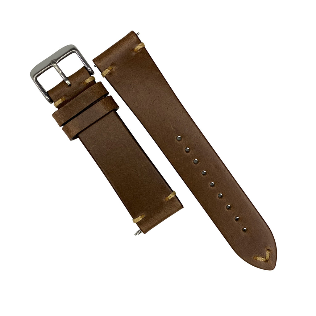 N2W Vintage Horween Leather Strap in Chromexcel® Tan (20mm) - Nomad watch Works