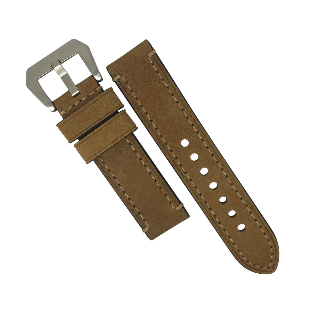 M1 Vintage Leather Watch Strap in Tan (24mm) - Nomad watch Works