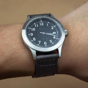 Quick Release Canvas Watch Strap in Grey (22mm) - Nomad watch Works