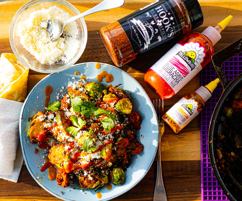 Hook's Tacos Everyday Pork Longaniza & Brussels Sprouts Skillet