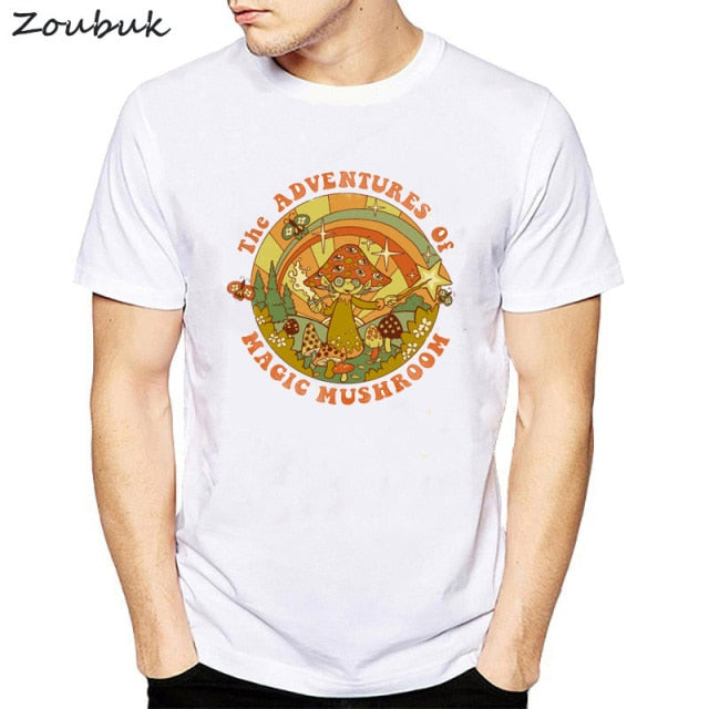 Psychedelic Research Volunteer T Shirt Men Funky Colourful Trippy Skull Print t-shirt Male Vintage Tshirt illusive top tees