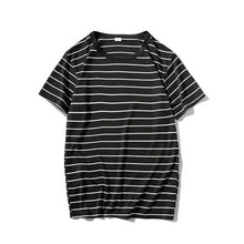 Load image into Gallery viewer, Striped Mens T-shirt Short Sleeve 2018 Summer Hi-street Oversized Tshirt Cotton Tee Shirts 2 Colors
