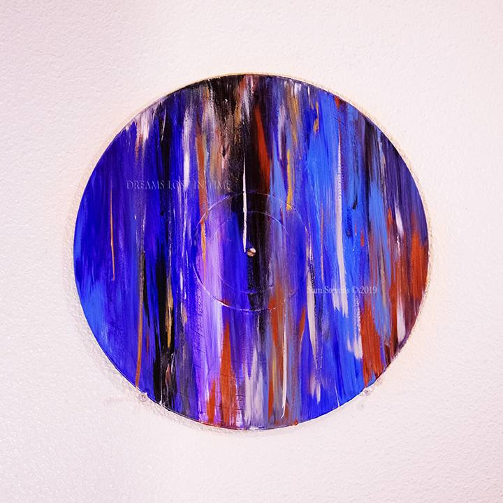 Event Horizon - 3C 371. Original Painting on a Classic Vinyl Record