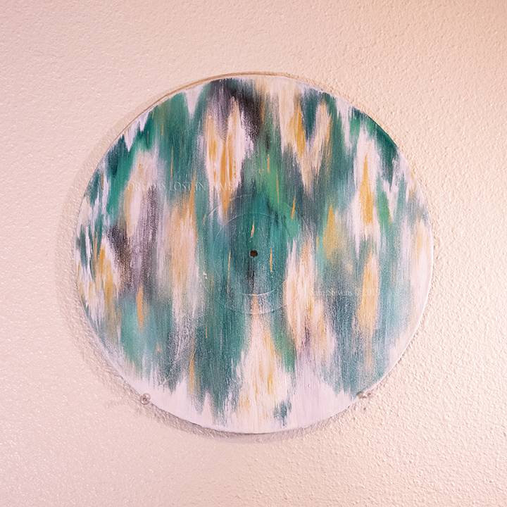 Event Horizon - IC 1459. Original Painting on a Classic Vinyl Record