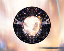 Load image into Gallery viewer, NYC from the Empire State Building - 360 Panorama on Round Metallic Paper