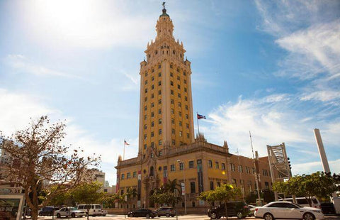 """The name """"Freedom Tower"""" stuck with the building because the Cubans who escaped from the F. Castro regime believed that they had found true freedom in the United States."""
