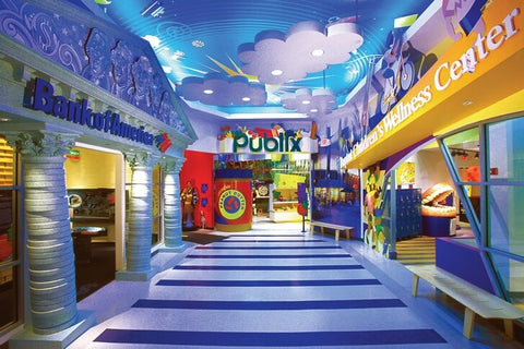 A full-fledged educational center with many interactive exhibits and compositions where children can learn about world culture as well as try their hand at some professions.