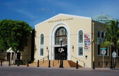 The museum's collection is housed in two buildings that formerly served as synagogues. The main structure is a historic 1936 structure created with elements of Art Deco architectural style