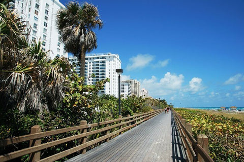 """A scenic walkway that stretches from South Beach about 5 miles north along the ocean shore. It's a """"must-see"""" spot in Miami."""