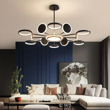 Load image into Gallery viewer, Loft Black Nordic Chandelier