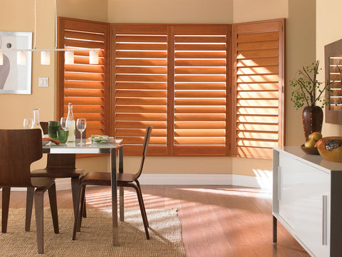 kitchen with brown shutters