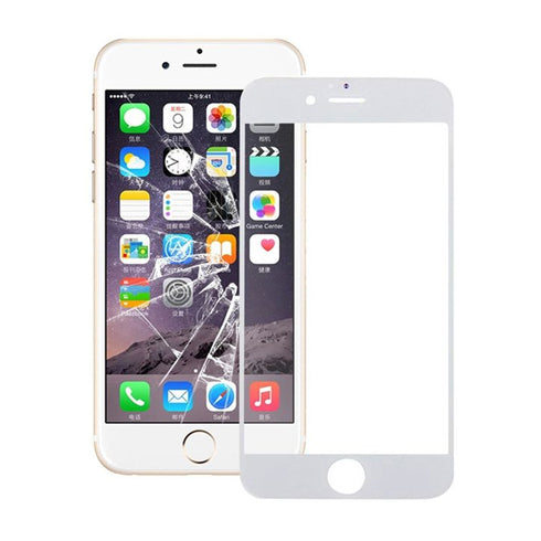 Iphone 6 Plus/6S Plus-Full Glue Adhesive Tempered Glass Screen Protector -White - Swissten - Backdeals