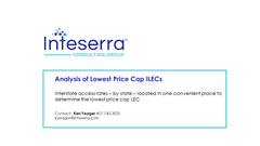 Analysis of Lowest Price Cap ILECs