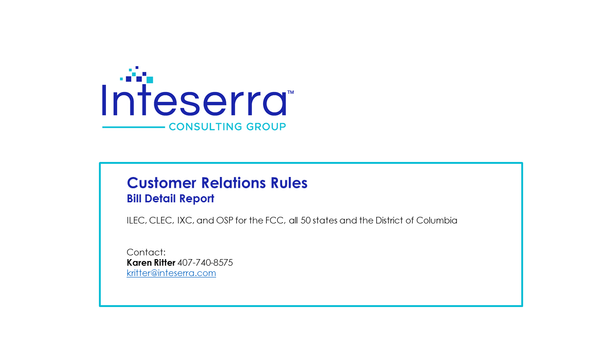 Customer Relations Rules - Billing Detail Report