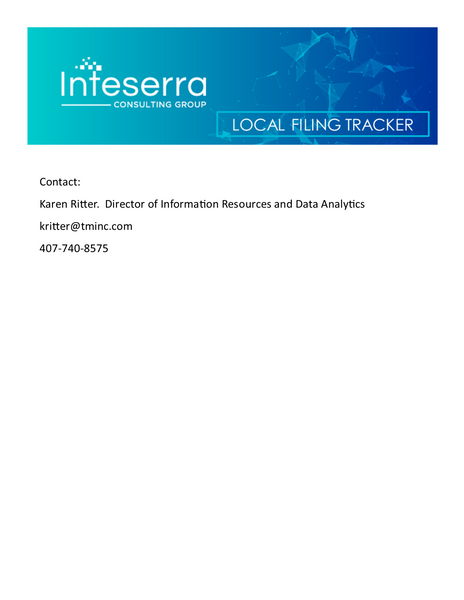 Inteserra's Local Filing Tracker