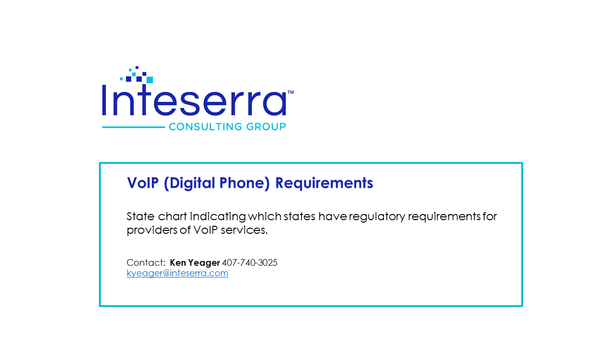 VoIP Requirements Single State Report