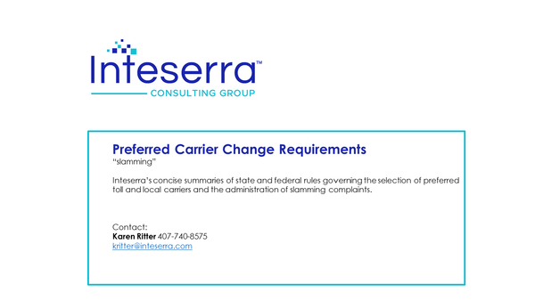 Preferred Carrier Change Requirements