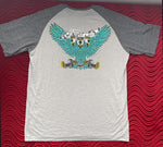 SHORT SLEEVE VINTAGE SOFT SHIRT - TRI EYE MONSTER BIRD - ASH N' CINDER