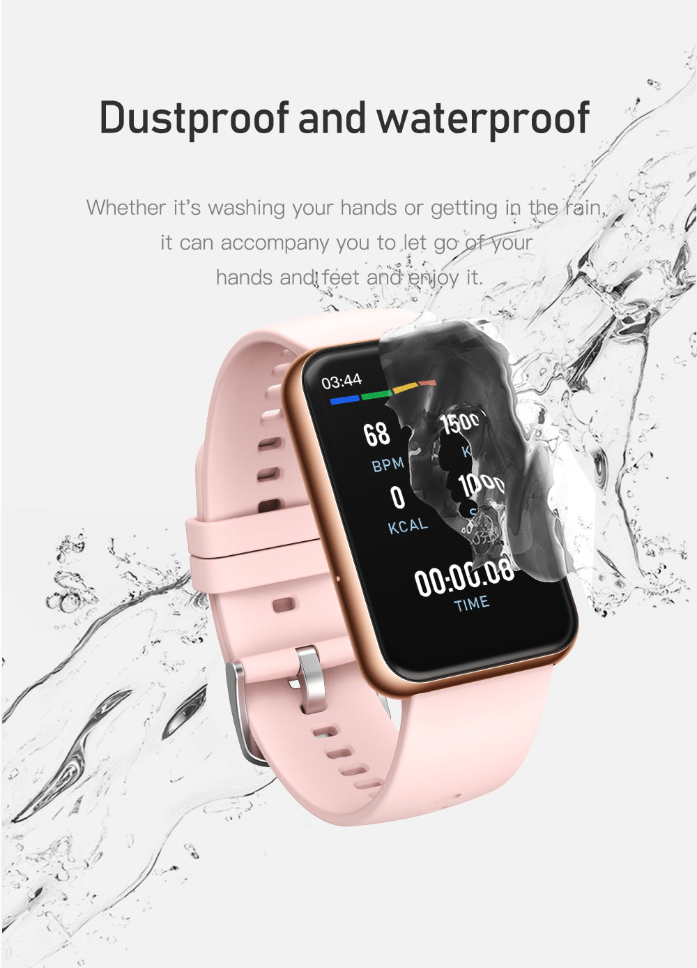 C10 Smart Watch Bluetooth Blood Pressure Heart Rate IP67 Waterproof For IOS Android