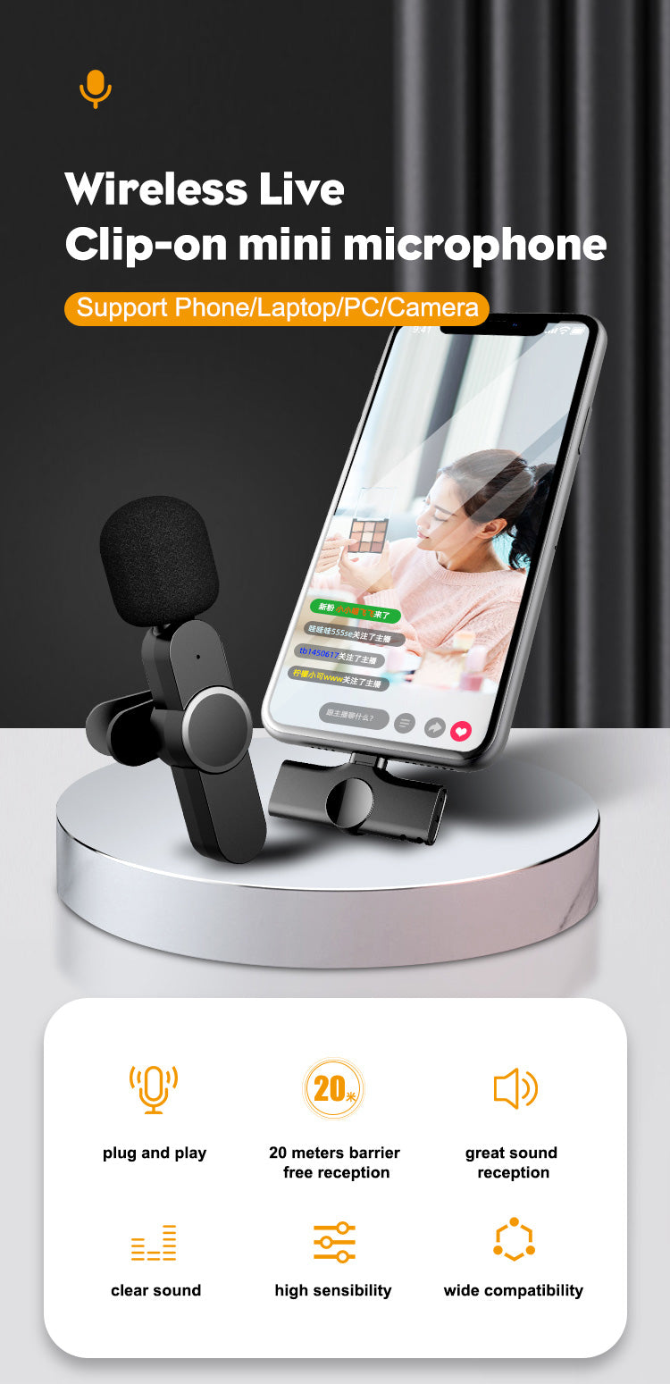 High Quality Mini Wireless Microphone for Type C