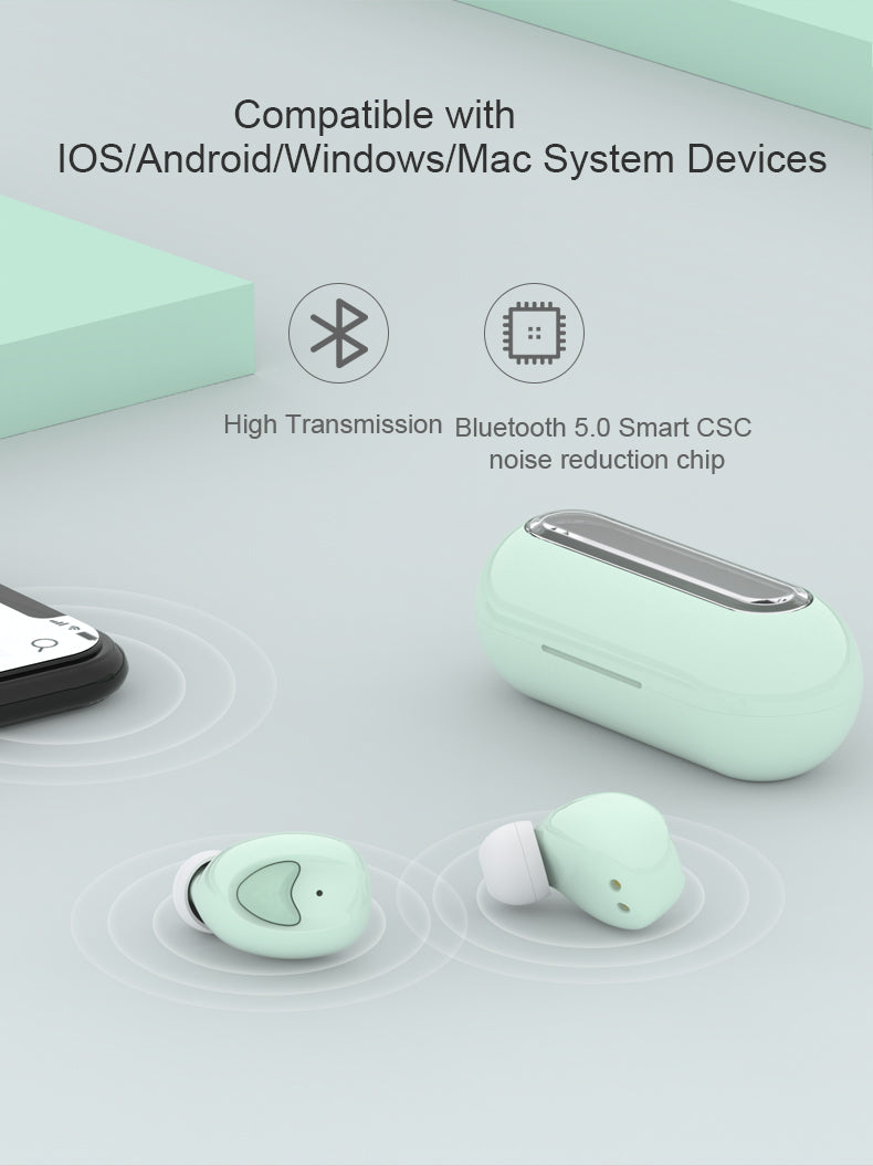 TW10 Wireless TWS Earphone Bluetooth Headset For iOS Android
