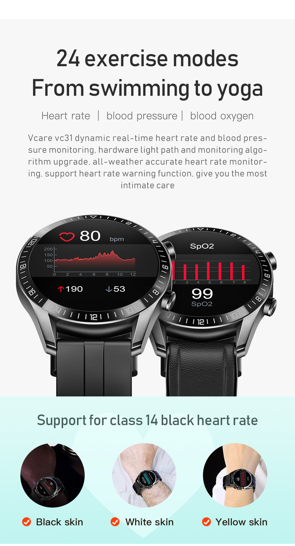UM59 Smart Watch Bluetooth Blood Pressure Heart Rate IP67 Waterproof For IOS Android