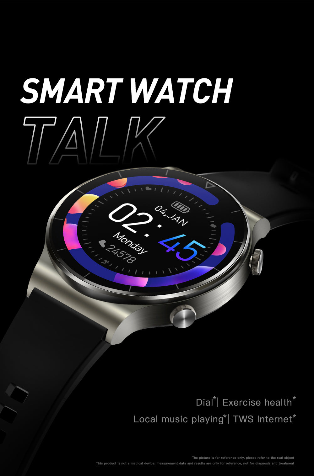 UM91 Smart Watch Bluetooth Blood Pressure Heart Rate IP67 Waterproof For IOS Android