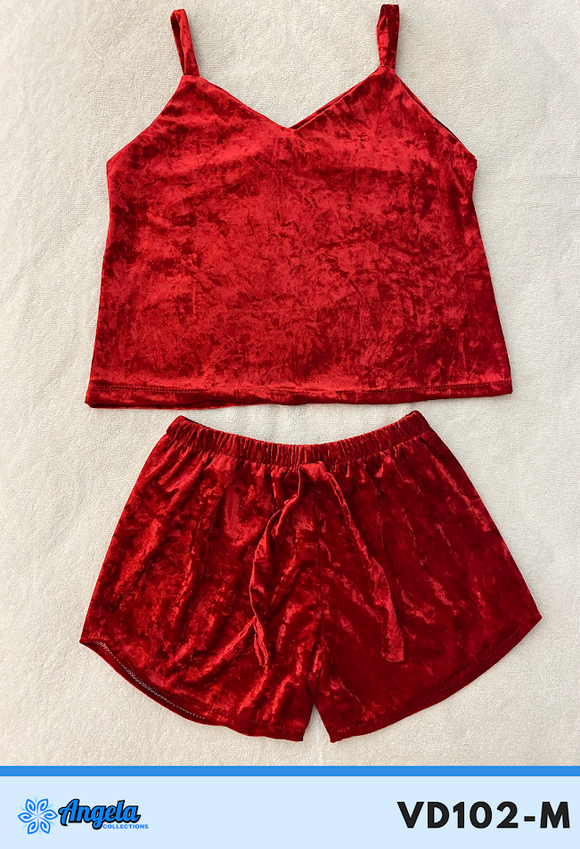 Angela Collections Dolphin Velvet Short and Top, VD102