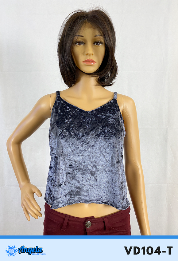 Angela Collections Velvet Top, VD104-T